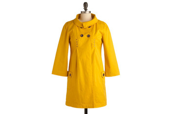 Out Loud jacket in yellow from ModCloth.com, $72.99