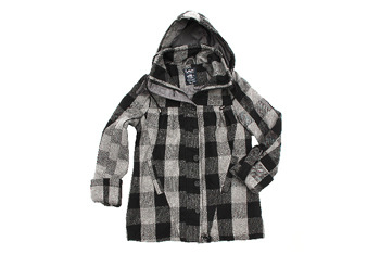 Flared peacoat with hood from Blnts.com, $50