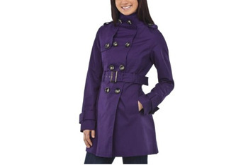 Coffee Shop belted twill trench coat from Target.com, $24.99