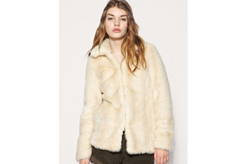 Vintage look blonde fur coat from Asos.com, $109