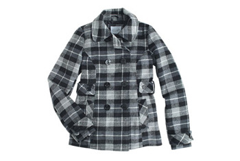 Colby plaid peacoat from Delias.com, $99.50