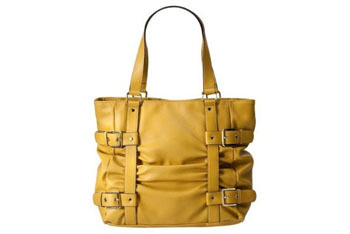 Merona yellow tote from Target.com, $18