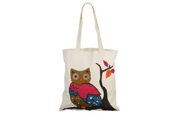 Jeweled Owl canvas tote from Forever21.com, $7.80