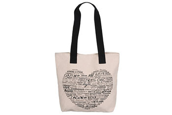 Heart tote bag from Forever21.com, $6.80