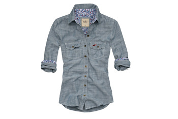 Shelther Island chambray denim shirt from Hollisterco.ca, $49.50