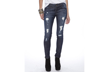 Destroyed skinny ankle jeans from Forever21.com, $24.80