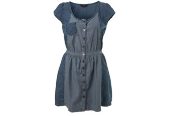 Denim two-tone dress from MissSelfridge.com, $45