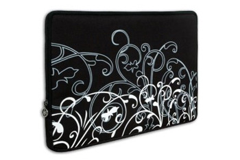 Black and white fleur laptop sleeve from Amazon.com, $15