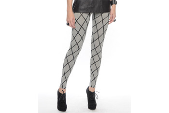 Diamond print leggings from Forever21.com, $22