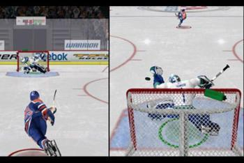 Shooter vs. Goalie mini-game screenshot