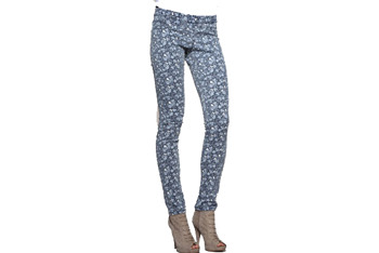 Ditsy floral denim leggings from Asos.com, $18