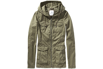 Poplin parka jacket from GarageClothing.com, $54.90