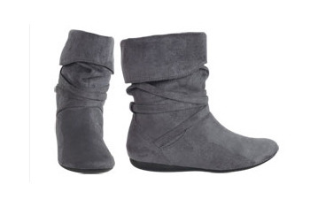 Divan ankle boot in grey from Delias.com, $49.50