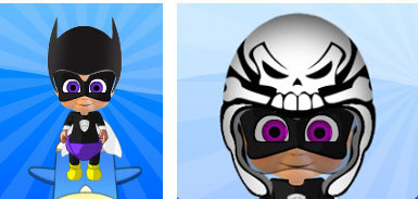 Herobaby with Cool Cat Helmet and Haunted Helmet
