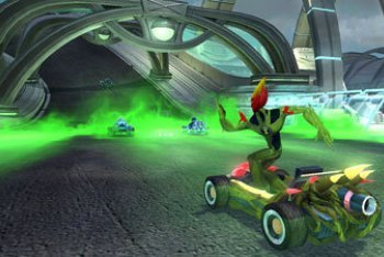Ben 10 Galactic Racing screenshot swampfire