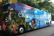 Change my world tour bus