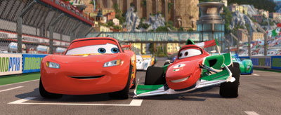 LIGHTNING MCQUEEN and FRACESCO BEMOULLI