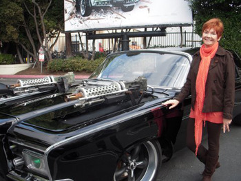 KW reporter with the Black Beauty car