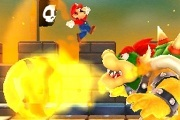 Super Mario 3D land screenshot mario fighting bowser
