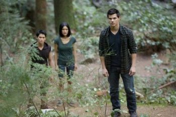 Booboo Stewart, Julia Jones with Taylor Lautner