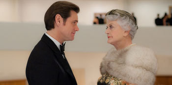 Jim Carrey and Angela Lansbury in Mr. Popper's Penguins