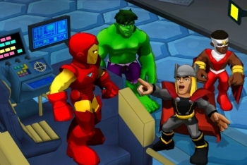 marvel Super Hero Squad: Comic Combat ironman thor hulk