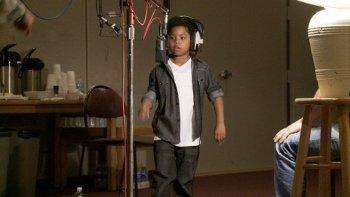 Lil P-NUT recording the voice of Atticus