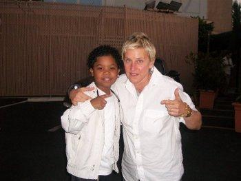 Lil P-Nut with Ellen Degeneres