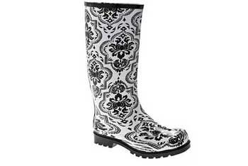 Nomad Puddles floral rain boot, $30, at Designer Shoe Warehouse (www.dsw.com)