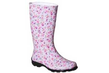 Small flower rain boots, $29.99, at Target