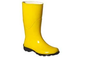 Yellow rain boots, $29.99, at Target