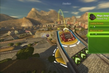 Mod Nation Racer screenshot building a jump on a track