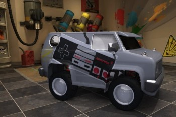 Mod Nation Racer screenshot custom nintendo theme van