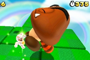 Super Mario 3D Land Giant Goomba with Tanooki tail