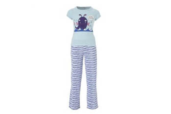 Stripey shark pajamas, $10, at NewLook.com