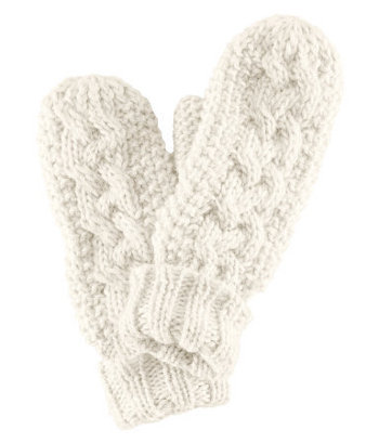 Woolly white gloves, $12.95 at H