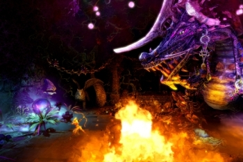 Trine 2 screenshot fighting a dragon
