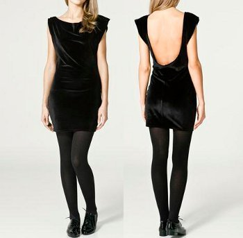 Black Velvet Dress from Zara UK