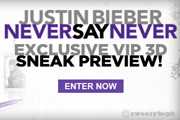 Justin Bieber : Never Say Never VIP Pass Contest