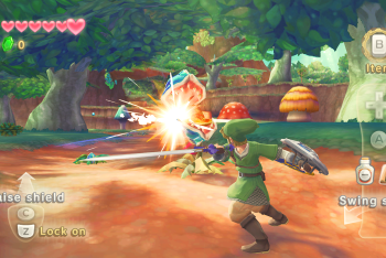 The Legend of Zelda: Skyward Sword screenshot sword slash