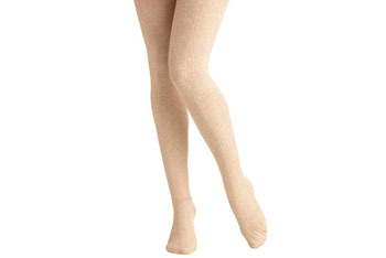 Delightfully warm tights in Oatmeal, $21, At MODCLOTH.com