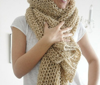 A chunky knit scarf is just the thing to keep your loved ones warm