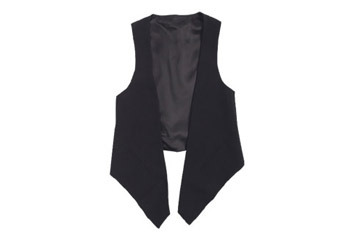 Anastasia black vest, $14.99, at Delias.com