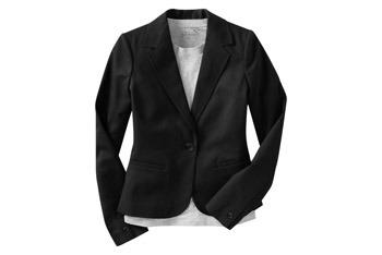 Cotton twill one-button blazer, $24, at OldNavy.com