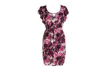 Printed flutter sleeve dress, $44.50, at Delias.com