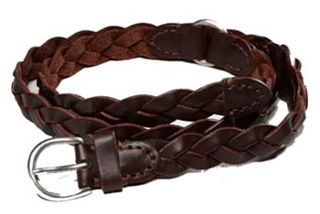 Braided leather ring belt, $29, at American Eagle