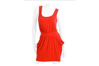 Gathered knit side pocket dress, $12, at WalMart.com