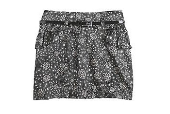 Black and white skirt, $14, at KMart