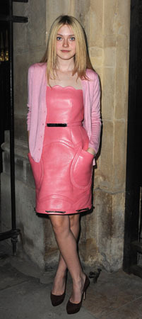 We adore this pink dress/cardi combo!