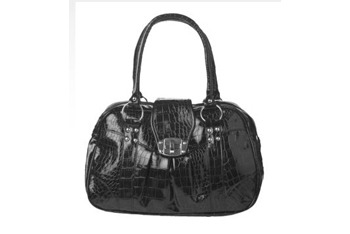 Patent mock croc bag, $25, at NewLook.com